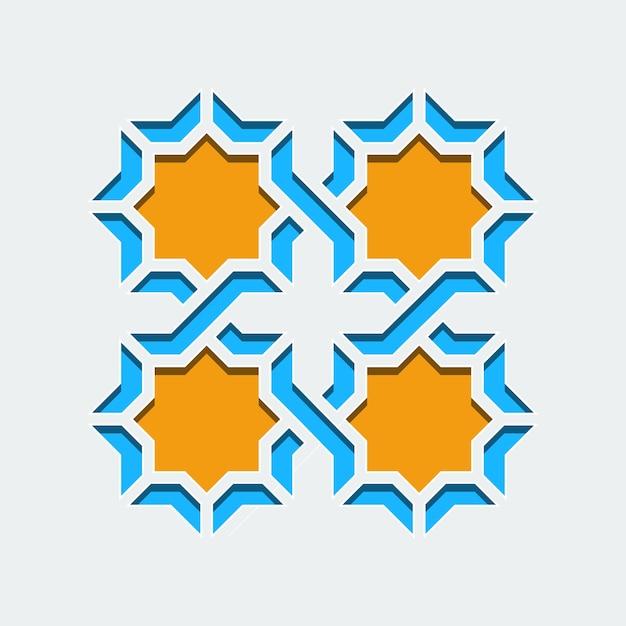 Araba geometrica astratta art deco mosaico senza cuciture Vettore Premium