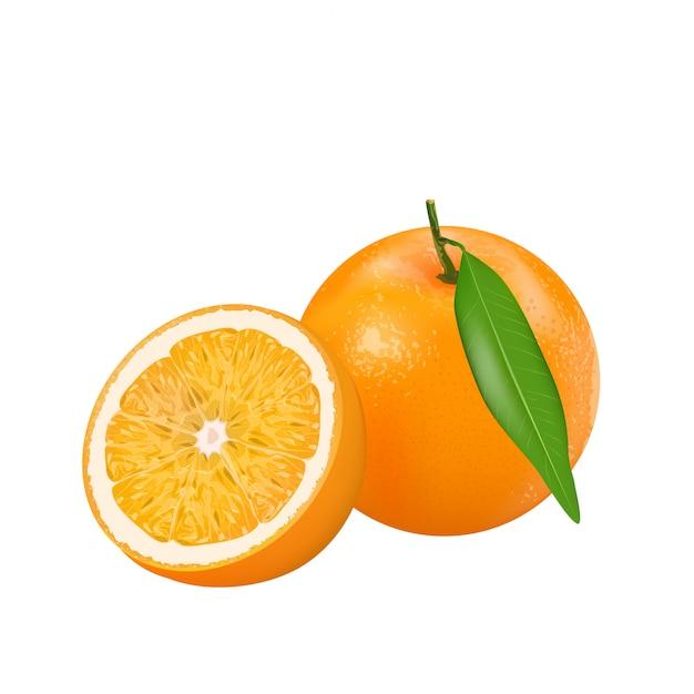 Arancia fresca Vettore Premium