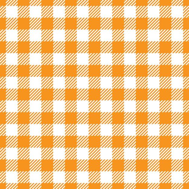 Arancione e bianco tessuto trama Vettore Premium