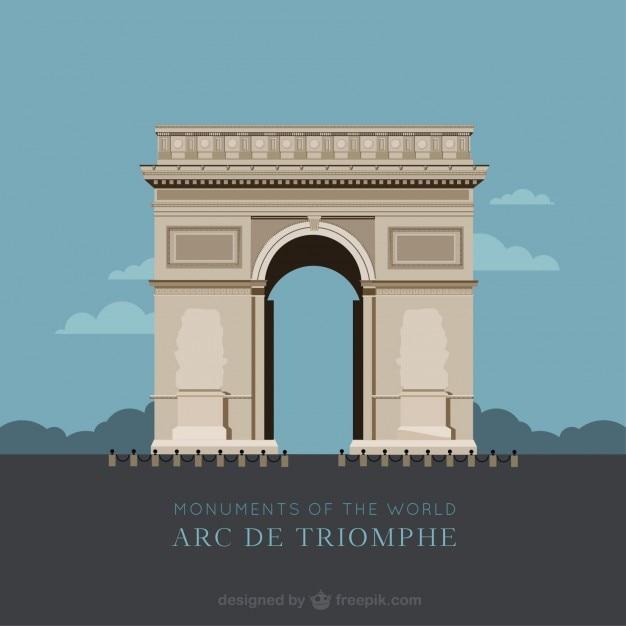 Arco di trionfo Vettore gratuito