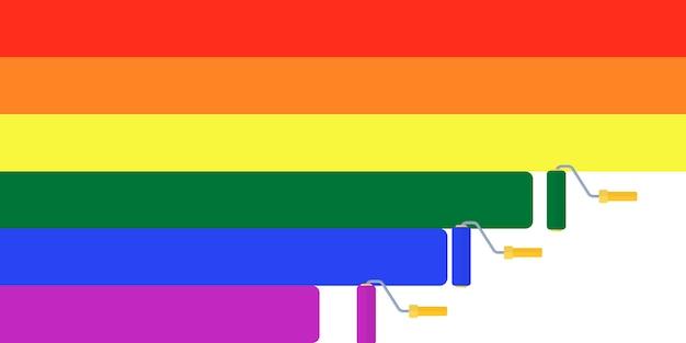 Arcobaleno, bandiera di tolleranza, lgbt, sfondo transgender di parata Vettore Premium