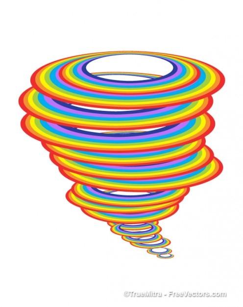 Arcobaleno colorato sfondo ciclone Vettore gratuito