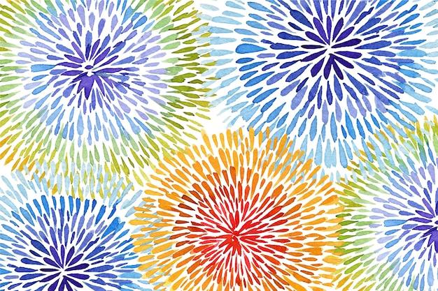 Arcobaleno nel fondo di stile della tintura del legame Vettore gratuito