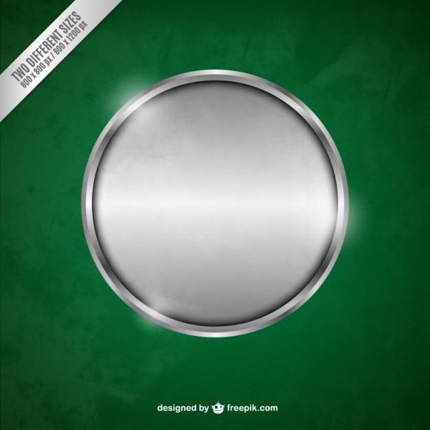 Argento cerchio metallico Vettore gratuito