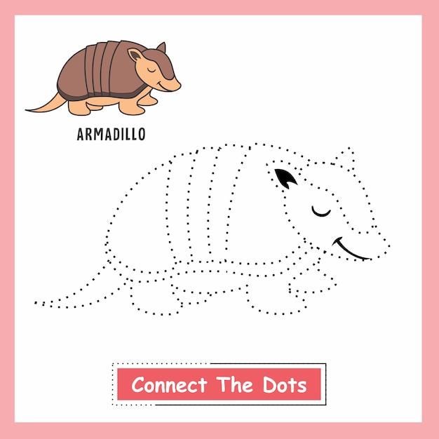 Armadillo connect the dots Vettore Premium