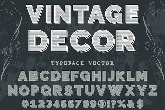 Arredamento di design etichetta retrò dei caratteri Vettore Premium