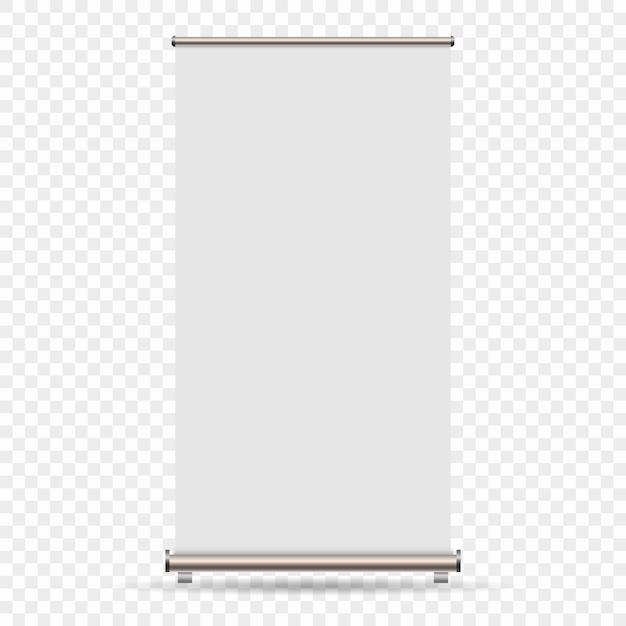 Arrotolare banner isolato su sfondo trasparente Vettore Premium