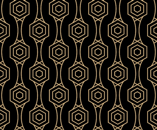 Art deco design pattern di sfondo senza soluzione di continuità Vettore Premium