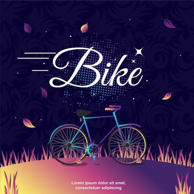 Arte dell'illustrazione di vettore della bici Vettore Premium