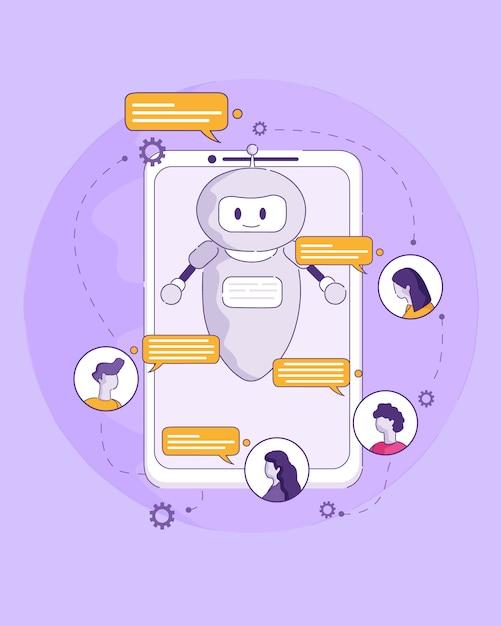 Artificial intelligence technology future in life Vettore Premium