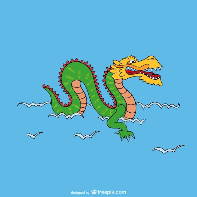 Asiatico drago cartone animato scaricare vettori gratis