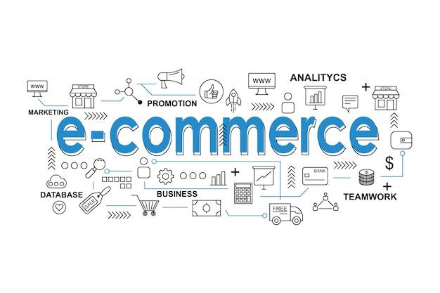 Asset e-commerce per la presentazione o la copertura dei social media Vettore Premium