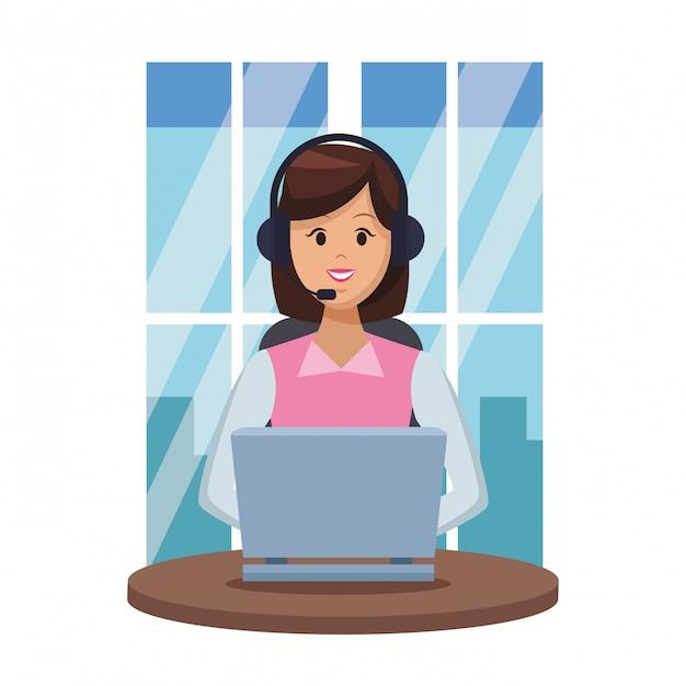 Assistente servizi clienti Vettore Premium