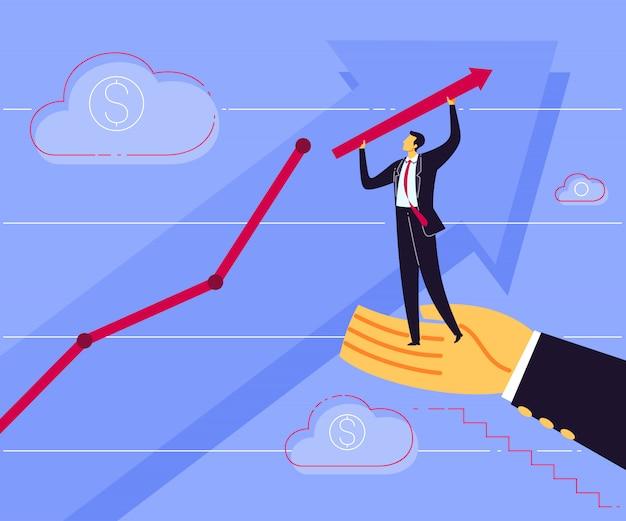 Assistenza per un migliore profitto aziendale Vettore Premium