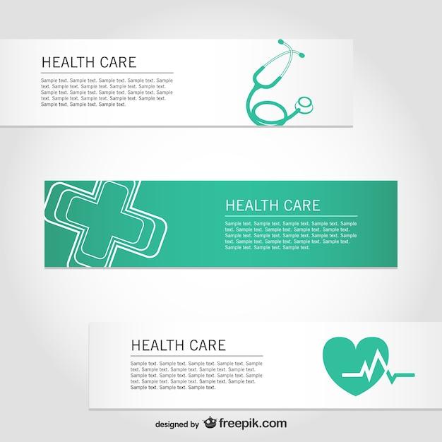 Assistenza sanitaria gratuita vettore banner Vettore gratuito