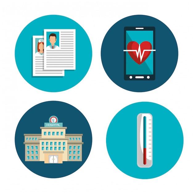 Assistenza sanitaria medica Vettore gratuito