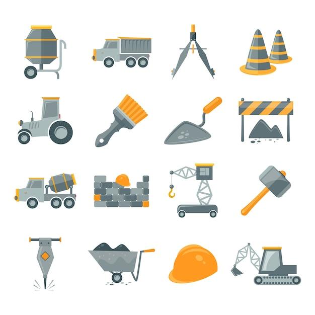 Assortimento di elementi di costruzione Vettore gratuito