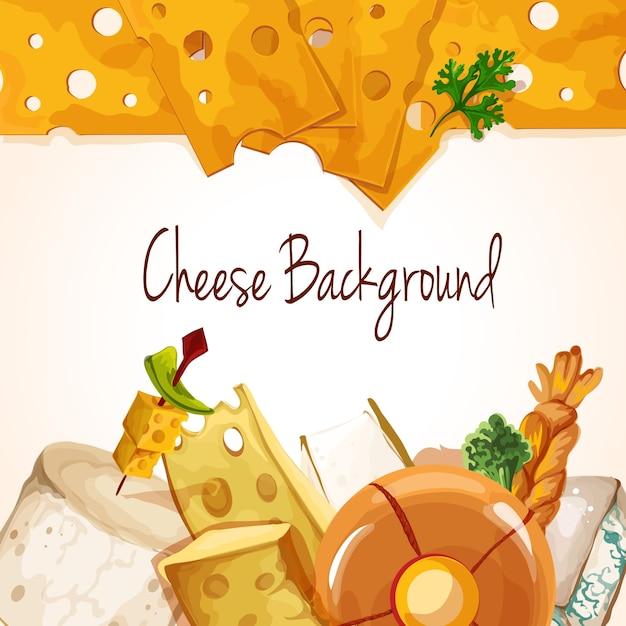 Assortimento di formaggi Vettore gratuito