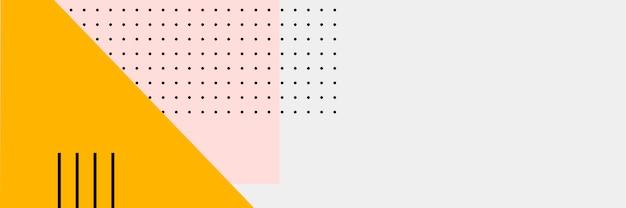 Astratto banner colorato Vettore gratuito