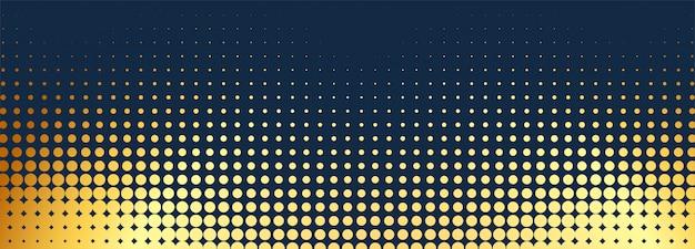 Astratto banner dorato punteggiato Vettore gratuito