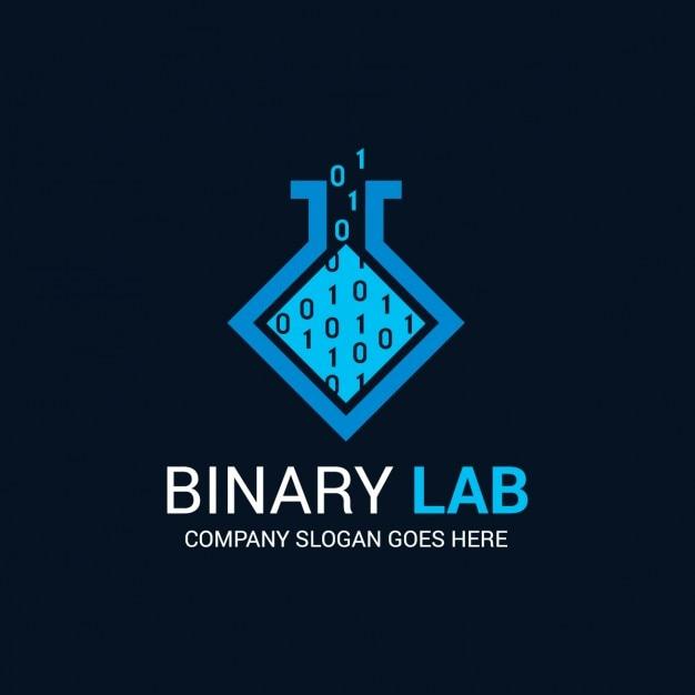 Astratto binario logo Vettore gratuito
