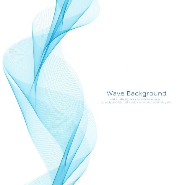 Astratto blu ondulato design elegante sfondo Vettore Premium