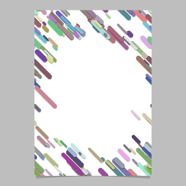 Astratto, caotico, arrotondato, diagonale, banda, modello, brochure, modello, vuoto, vettore, volantino, fondo, disegno, da, strisce, colorito, toni Vettore Premium