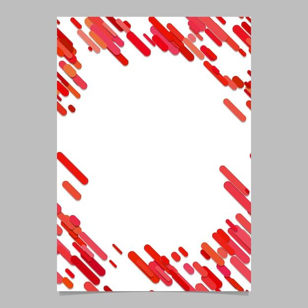 Astratto, caotico, arrotondato, diagonale, banda, modello, brochure, modello - vuoto, vettore, volantino, fondo, disegno, da, strisce, rosso, toni Vettore gratuito