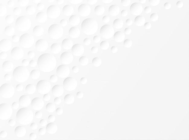 Astratto. cerchio in rilievo sfondo bianco. luce e ombra. copyspace Vettore Premium