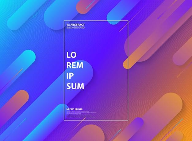 Astratto colorato di motivo geometrico minimal Vettore Premium