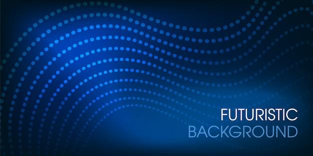 Astratto design futuristico incandescente sfondo Vettore Premium