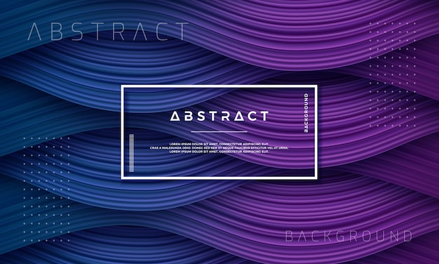 Astratto, dinamico e strutturato viola e sfondo blu scuro Vettore Premium