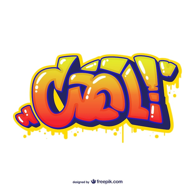 Astratto graffiti vector Vettore gratuito