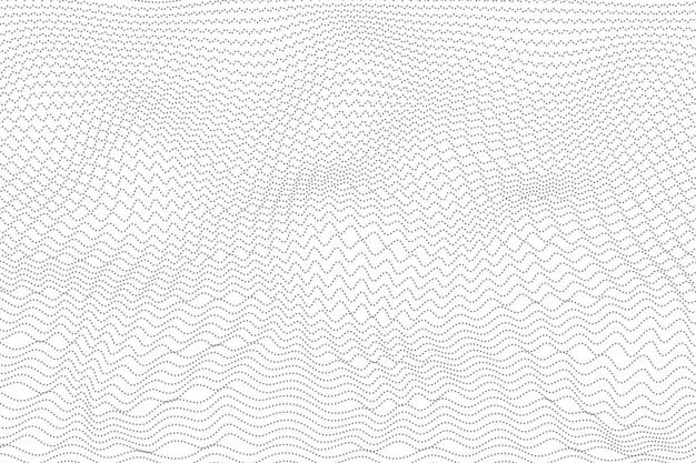 Astratto grigio ondulato dot design sfondo. Vettore Premium