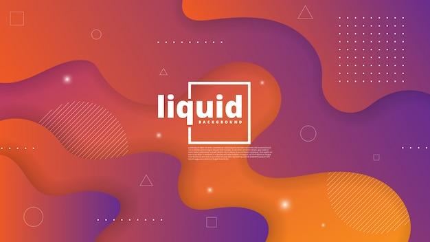 Astratto moderno con elemento fluido e liquido Vettore Premium