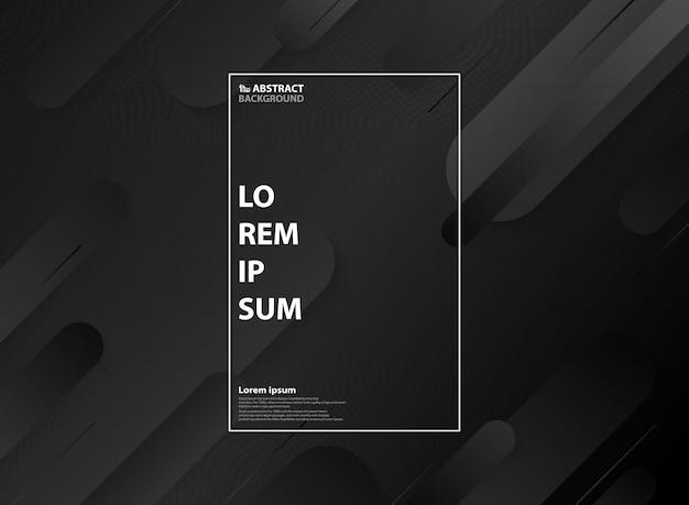 Astratto motivo geometrico minimal bianco e nero Vettore Premium