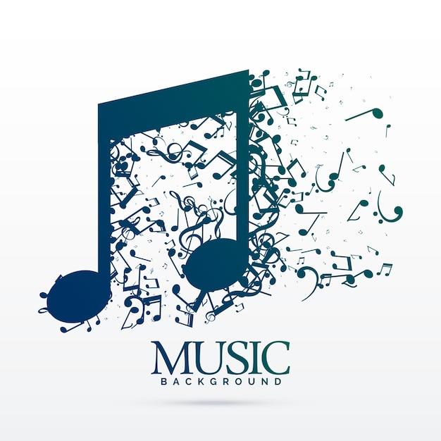 Astratto note musicali sfondo di progettazione Vettore gratuito
