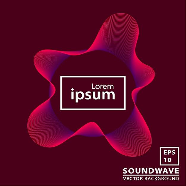 Astratto onda sonora Vettore Premium