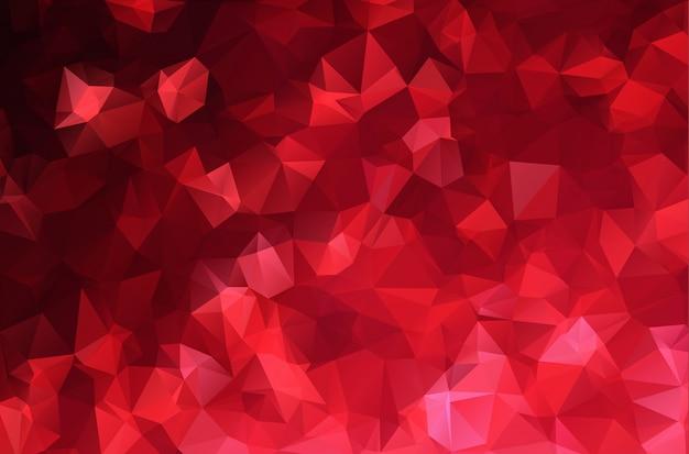 Astratto rosso bianco poligonale mosaico backgroun Vettore Premium