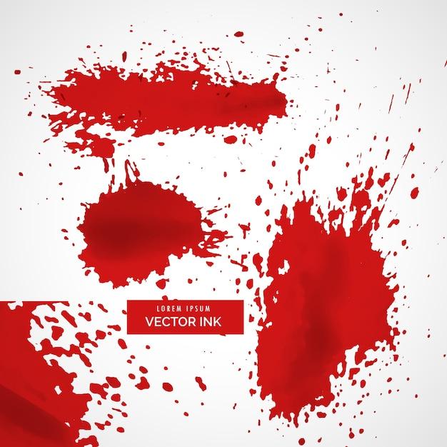 Astratto rosso splatter sfondo inchiostro texture Vettore gratuito