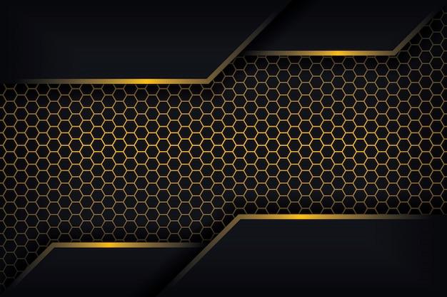 Astratto sfondo 3d con una combinazione di poligoni luminosi in stile 3d. Vettore Premium