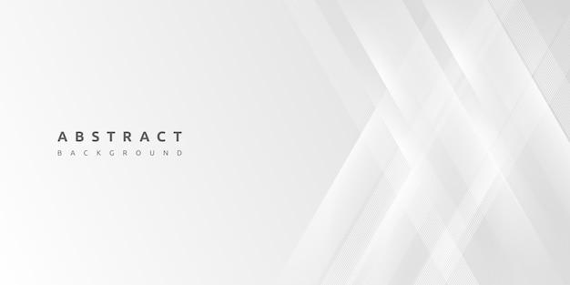 Astratto sfondo bianco minimo Vettore Premium