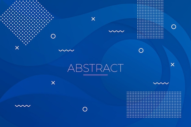 Astratto sfondo blu classico Vettore gratuito