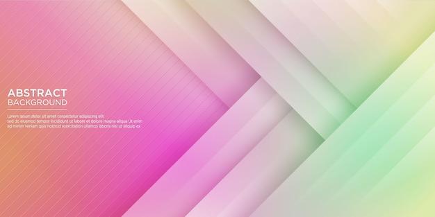 Astratto sfondo colorato geometrico Vettore Premium