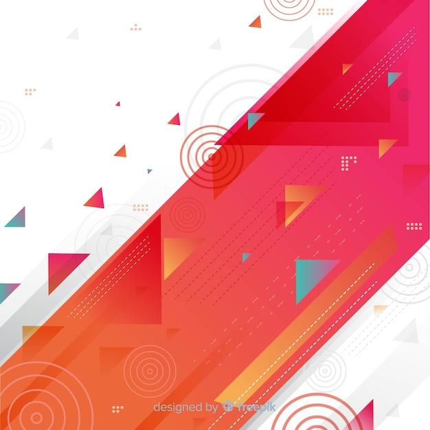 Astratto sfondo colorato geometrico Vettore gratuito