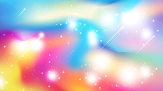 Astratto sfondo colorato stile acquerello con glitter scattering. Vettore Premium