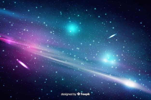 Astratto sfondo cosmico con stelle Vettore gratuito