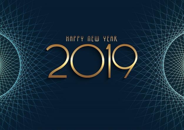 Astratto sfondo di felice anno nuovo Vettore gratuito