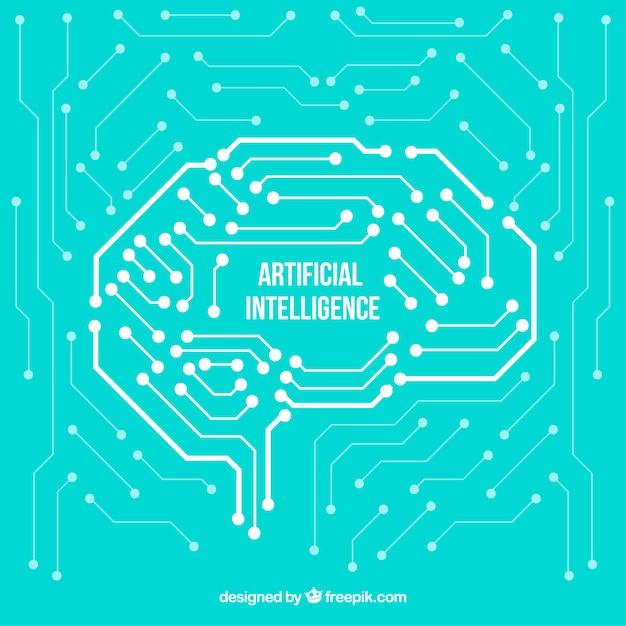 Astratto sfondo di intelligenza artificiale Vettore gratuito