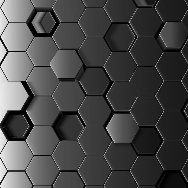 Astratto sfondo esagonale Vettore Premium